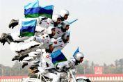 印度阅兵式摩托车大显神威