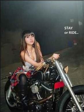 模特叶翎涵跳楼自杀生前摩托车美照曝光