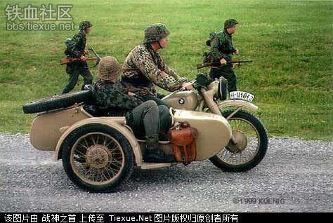 二战时期的宝马军用摩托车