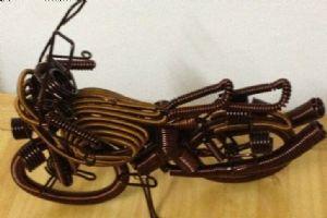 钢丝摩托车艺术品