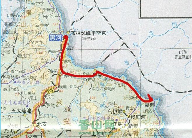 黑河市区地图高清大图