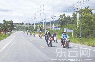 摩托车上的泰国