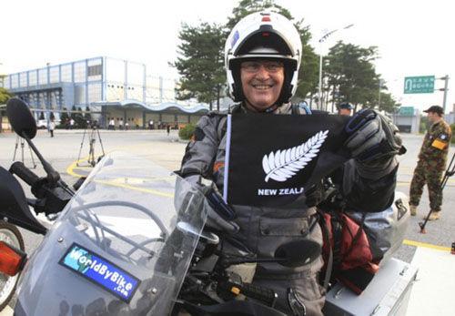 29日新西兰摩托车旅行团进入韩国