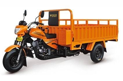 万虎三轮车 万虎悍虎-橙wh200zh-5a正三轮摩托车 自卸 水冷农用车