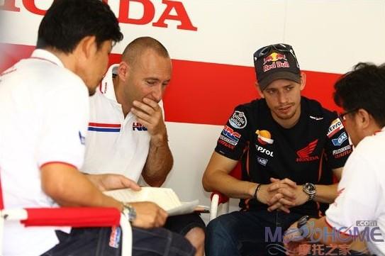 Stoner复出测试MotoGP赛车
