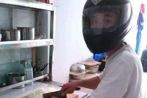 摩托头盔的妙用