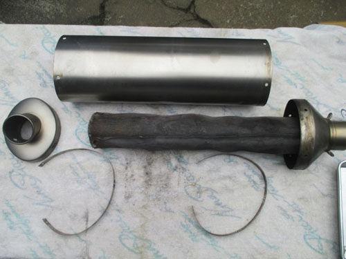 更换DIY直通排气管内部消音棉