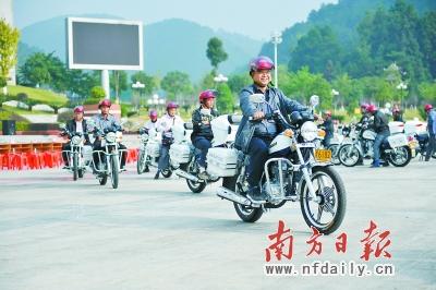 连山公共服务站配公务摩托车