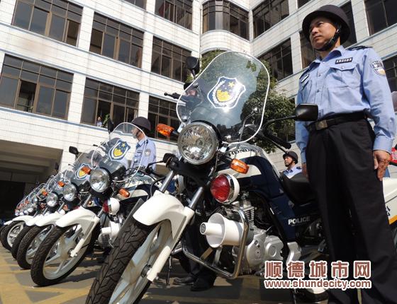 拉风!容桂配发37辆警用摩托车