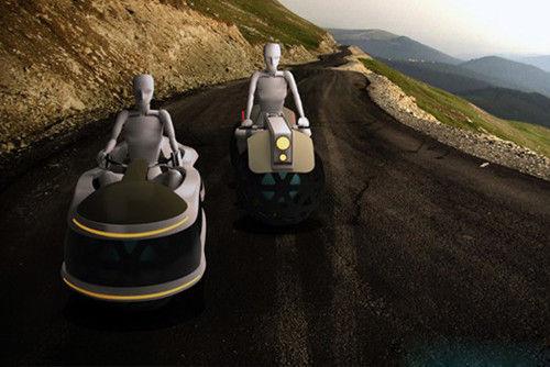 two-ballers概念电磁球形轮摩托车