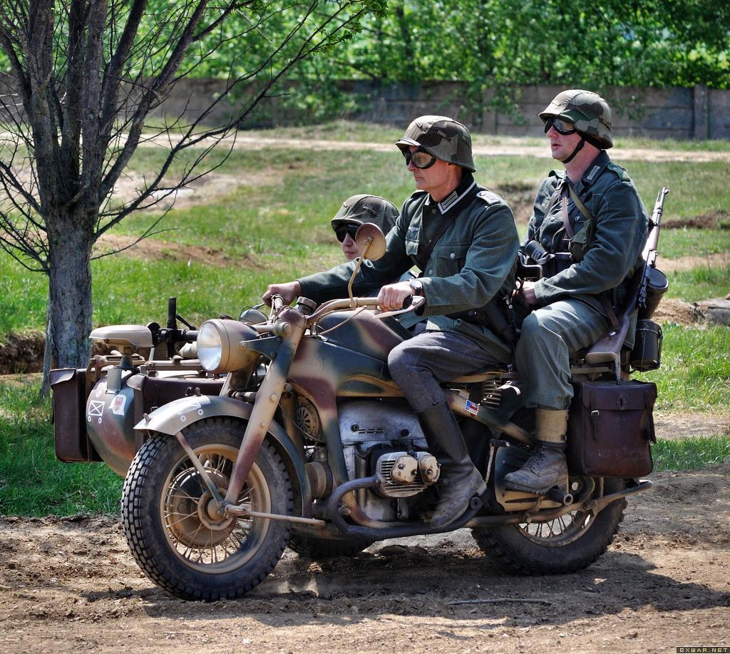 德国二战时期的军用摩托车