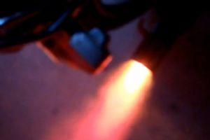 摩托车改装排喷火尾喉排气管视频