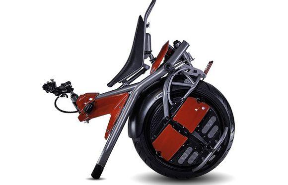 超酷炫奇葩独轮电动摩托车