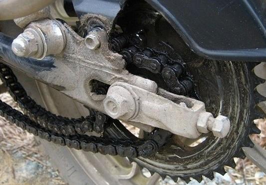 摩托车掉链子的处理方法