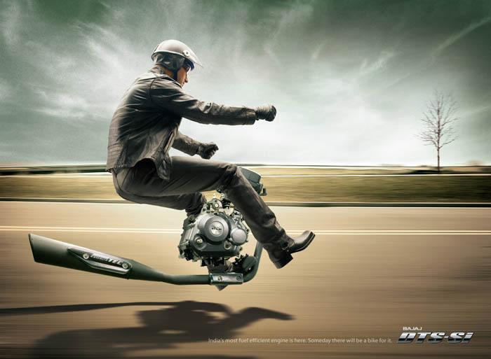 巴贾杰(Bajaj)摩托的创意广告