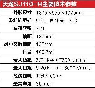 全新跨界弯梁金城天逸SJ110-H