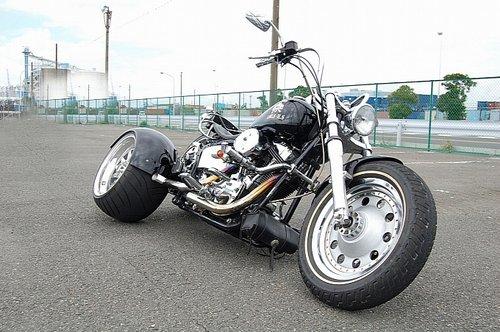 日本KSG改装哈雷三轮摩托车