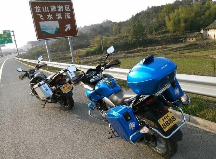 零距离接触大自然GW250S蓝色带三箱提车