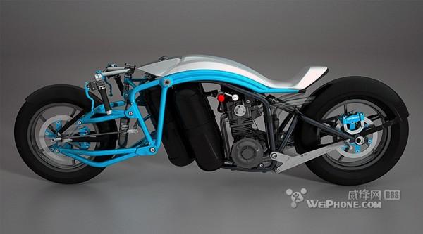 外形超酷的蒸汽动力摩托车