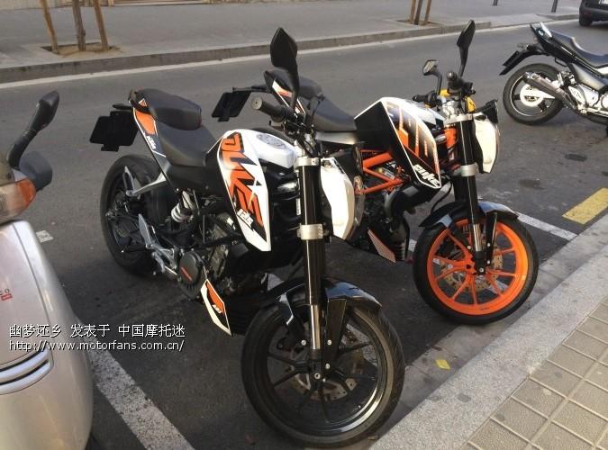 西班牙华人试骑试驾KTMDuke390