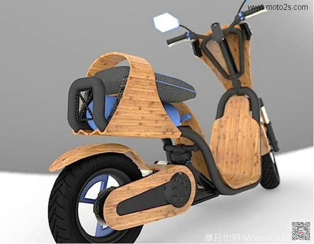 竹子竟然也能制作成摩托车