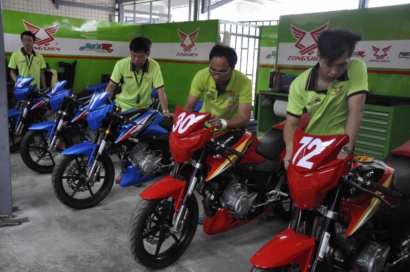 宗申车队今年继续征战全国公路摩托车锦标赛