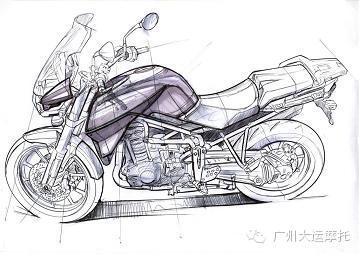 高手在民间 手绘摩托车