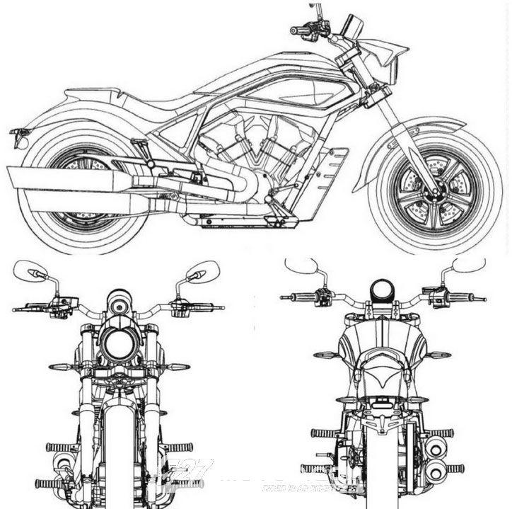 摩托设计图手绘