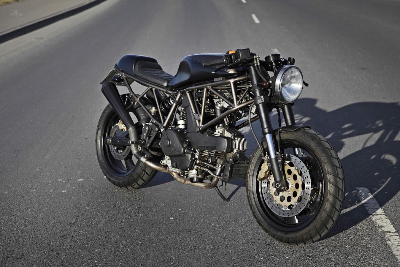 黑调风格改装 ducati 750 super sport 牛摩网 高清图片