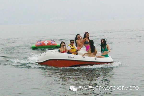 春风c150游艇亮相庐山西海风景区