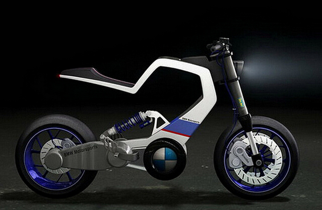 宝马未来电动摩托车E100r概念车
