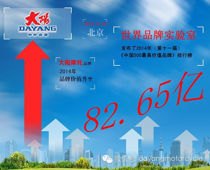 """2014年中国品牌500强揭晓:""""大阳""""品牌价值82.65亿"""