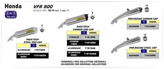 2014本田VFR800F两款箭牌专用改装排气