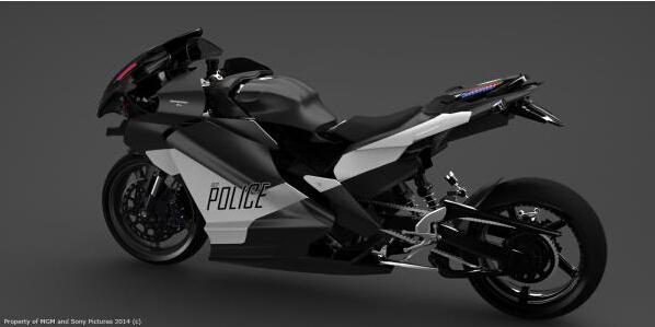 《机械战警》概念图放出黑色巡警摩托超酷炫