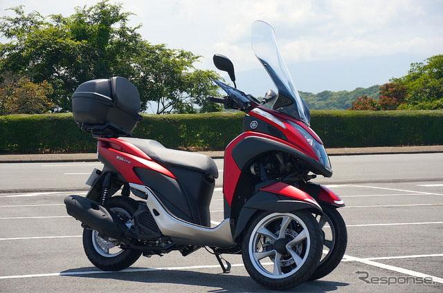 雅马哈新型三轮摩托车Tricity