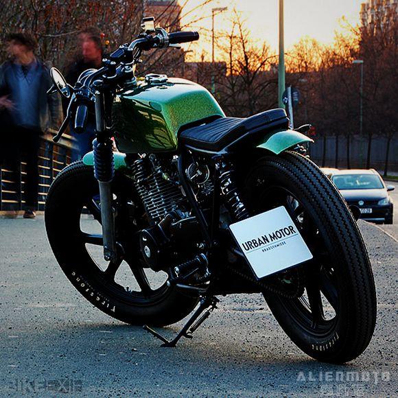 英国绿简约风YamahaXS400改装
