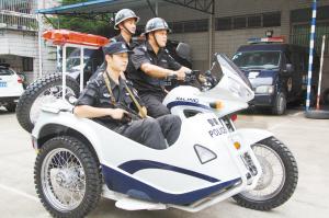 金华市首次使用警用三轮摩托车