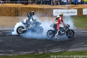 古德伍德赛车节上的摩托车狂欢派对