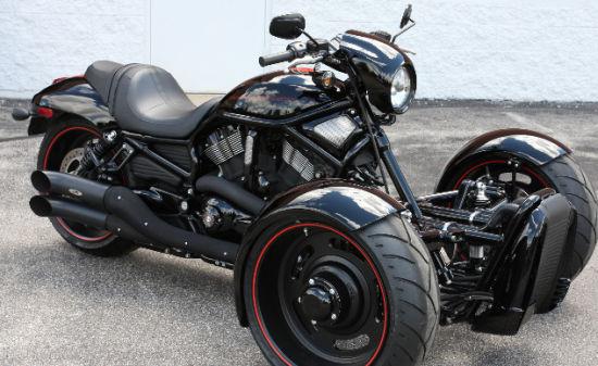 蝎子公司推出哈雷V-ROD倒三轮改装包