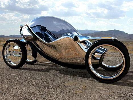 四轮电动力超炫圣甲虫概念摩托车