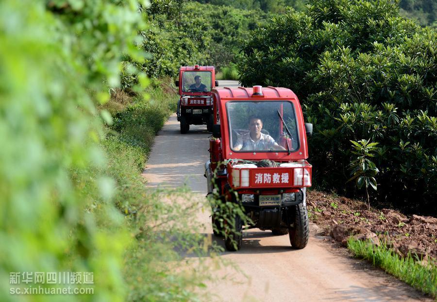 四川蓬安为乡镇配发消防摩托车