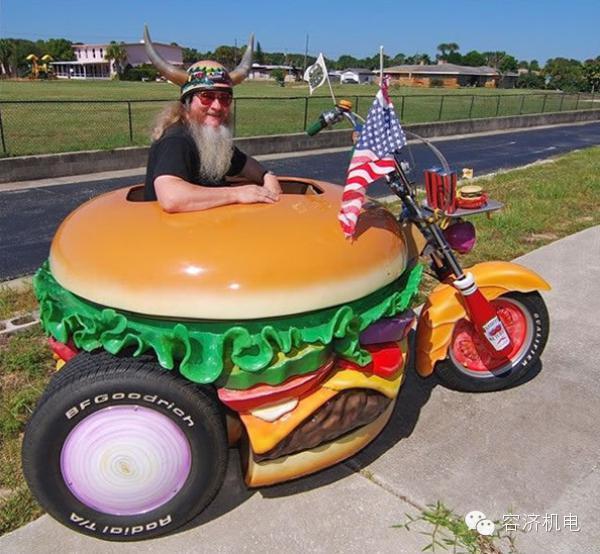 """汉堡大叔和他的""""奇葩""""摩托车"""