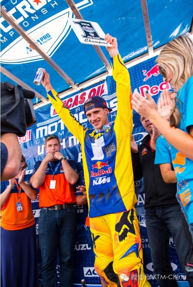 红牛KTM车队包揽美国Pro摩托车越野锦标赛冠亚军