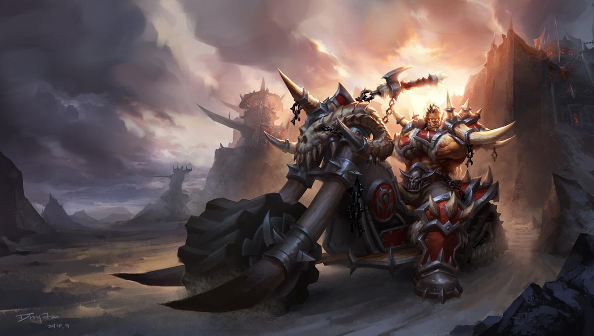 魔兽世界玩家画作:酷炫部落摩托车