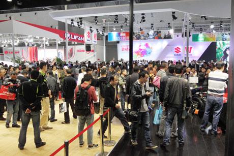 中国摩博会大排量改装机车全国首发