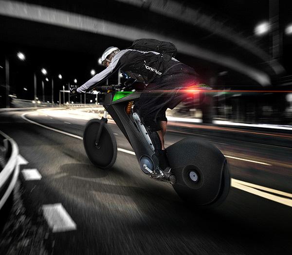 氢动力摩托车:车身轻薄似自行车