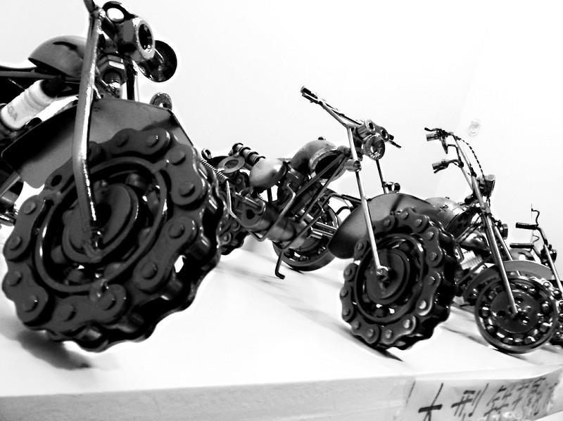 微型电焊铁摩托形态逼真当摆件