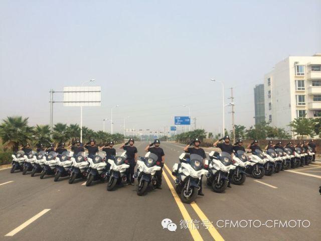 广西来宾配备20辆大排春风CF650J警用摩托