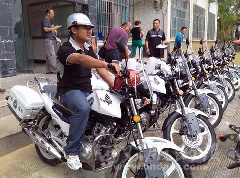 西双版纳旅游局增配15辆巡护摩托车