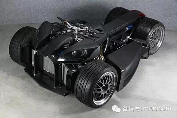 """价值两百万的四轮""""机械怪兽""""摩托车"""
